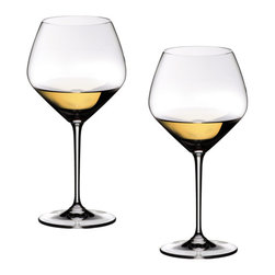 Riedel - Riedel Vinum Extreme Oaked Chardonnay Glasses - Set of 2 - Lead crystal, machine-maderecommended for: Burgundy, Chardonnay, Corton Charlemagne, Montrachet, Neue Welt Chardonnay, Pouilly-Fuiss, Riesling, Riesling Smaragd,St. Aubin.