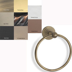Allied Brass - Waverly Place Towel Ring - Keep your hand towel where guests can easily find it with this stylish towel ring. The ring comes with everything you need to easily mount it to any wall and has basic detailing that will match with any bathroom decor that you have in your bathroom.