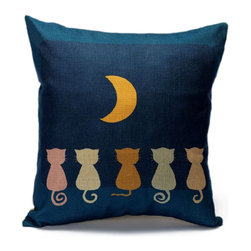 Cushion Magnifi-Cat-Essence (Cushion/Pillow Cover), Moon - These cushions covers are ''Purr-fect'' for poeple who whant to add a bit more ''Cat-titude'' in any room. They are design, funny and adorable! Chose your style and be ready to love them ''Furr-Ever''