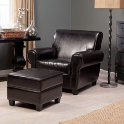 Belham Living Sonoma Leather Club Chair and Storage Ottoman - Sit with style in the Sonoma Leather Club Chair and Storage Ottoman. When you really need to lounge it up, this set will be there to take you on a one-way trip to Relaxville. The chair exudes comfort, with a spacious seat and bulbous, plush cushioning that's sure to feel great after a long day. The ottoman features a secret storage compartment, so you'll be able to easily keep organized. Both pieces are crafted with durable hardwood frames for lasting longevity.About Belham LivingBelham Living builds catalog-quality furniture in traditional styles at a price that actually makes sense. By listening to our customers and working closely with great manufacturers, we build beautiful pieces worthy of your home. Rich wood finishes, attention to detail, and stylish lines that tie everything together are some of the hallmarks of a Belham Living piece. From the living room or bedroom, through the kitchen, and out onto the deck, there's something from an incredible Belham collection perfect for your style.