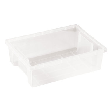 Ecr4kids - Ecr4Kids Classroom Rectangular Small Storage Organizer Plastic Bin Clear 20 Pack - Store everything you need in this extra large storage binStorage made attactive and easy Use these extra-deep, large storage bins with our trolley and classroom storage units. NoteColors may vary and are subject to change without notice.