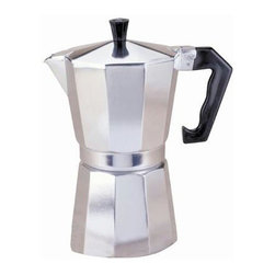 Epoca - Stovetop Coffeemaker - Premium Aluminum Stove top press Coffee Maker 9 cup. Aluminum press Coffee Maker that delivers 9 cups of rich, authentic press from your stovetop. Made from quality cast aluminum with a heat-resistant handle.