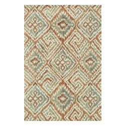 """Loloi Rugs - Loloi Rugs Avanti Collection - Spice / Mist, 5' x 7'-6"""" - Power loomed in China, Avanti presents a collection of vintage-inspired rugs with an incredibly soft microfiber surface. The intentionally distressed patterns create a weathered look that simultaneously implies heritage and modernity. Made of 100% polyester, each rug will retain its sharp and vibrant colors for years to come."""