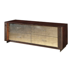 Marco Polo Imports - Parker Dresser - Crafted by hand from sustainably harvested and reclaimed woods, this timelessly elegant dresser juxtaposes warm patinas with rough and refined Guanacaste wood and mercury glass.