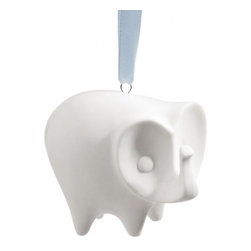 Elephant Christmas Ornament - Jonathan Adler is the master of ornament design. Include this adorable elephant (a symbol of good luck and fortune) and welcome the year right!
