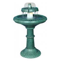 Alpine Corporation - Fountain with Light - Made from a tough, durable Resin, these decorative fountains can withstand the harshest temperatures for years of enjoyment. Lightweight construction allows easy placement and movement. These water fountains contain everything you need simply fill with water and plug in.