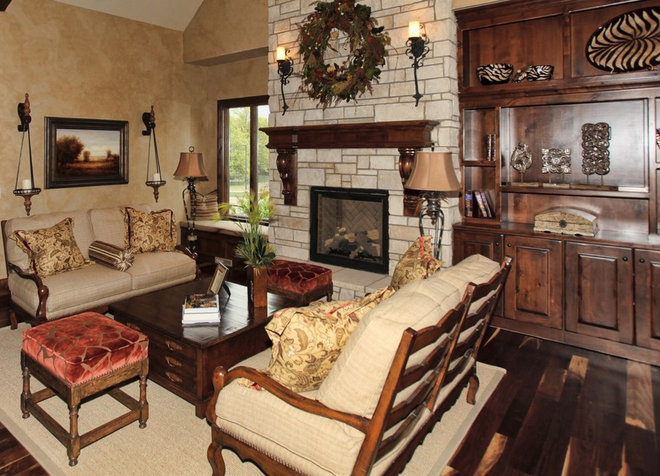 Traditional Family Room by Cohlmia Interiors