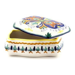 Artistica - Hand Made in Italy - DERUTA VARIO: DERUTA VARIO: Rectangular Jewelry Box - DERUTA VARIO Collection: Over 500 years of artistic heritage has produced a multitude of ceramic artists in the Italian town of Deruta.