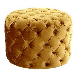 Cyan Design - Cyan Design 06778 Gold Miss Muffet Ottoman - Cyan Design 06778 Gold Miss Muffet Ottoman