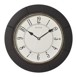 bulova - Espresso Wall Clock - Solid hardwood case