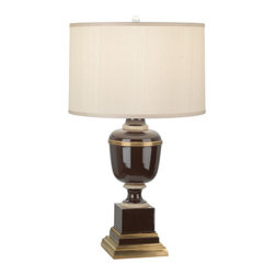 Robert Abbey - Robert Abbey Mary McDonald Annika Table Lamp 2502X - Chocolate Lacquered Paint and Natural Brass