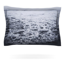 "Kess InHouse - Leah Flores ""Out to Sea"" Gray Coastal Pillow Sham (Woven, 30"" x 20"") - Pairing your already chic duvet cover with playful pillow shams is the perfect way to tie your bedroom together. There are endless possibilities to feed your artistic palette with these imaginative pillow shams. It will looks so elegant you won't want ruin the masterpiece you have created when you go to bed. Not only are these pillow shams nice to look at they are also made from a high quality cotton blend. They are so soft that they will elevate your sleep up to level that is beyond Cloud 9. We always print our goods with the highest quality printing process in order to maintain the integrity of the art that you are adeptly displaying. This means that you won't have to worry about your art fading or your sham loosing it's freshness."