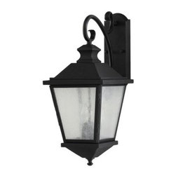 Home Solutions Woodside Hills OL5702BK 3-Light Wall Lantern - 9.75 in. - Black - The perfect choice for your home, the Home Solutions Woodside Hills OL5702BK 3-Light Wall Lantern - 9.75 in. - Black makes its presence felt through its classic elegance and practical function. The simple, yet substantial rustic design is timeless in appeal and will complement homes of almost every style. The seeded glass emanates a gentle, welcoming light, while playing up the beauty of the sleek black finish. It uses three candelabra 60-watt bulbs (not included) and is UL-listed for wet locations.Additional Information:Extension: 14.5 inchesBackplate dimensions: 4.5W x 12H inchesAbout Murray Feiss LightingThree generations have built Murray Feiss as a renowned name in lighting, and it now stands as a leader with a reputation for impeccable craftsmanship, innovative design, and honest value. Murray Feiss prides itself as the foremost designer and manufacturer of interior and exterior lighting and home décor in the lighting industry. Over 3,800 skilled artists and technicians bring Murray Feiss designs to life, meticulously finishing and quality testing each exclusive product. Murray Feiss Lighting has expanded its extensive, copyrighted line of products to include grand chandeliers, casual fixtures, vanity bath lights with coordinated bath hardware, outdoor lighting, lamps, torchieres, wall brackets, mirrors and decorative accessories. Whether outdoor or in, lighting from Murray Feiss means high quality and innovation.About Murray FeissMurray Feiss prides itself as the foremost designer and manufacturer of interior and exterior lighting and home décor in the industry. Founded three generations ago, Murray Feiss features an award-winning in-house design team that includes industrial, graphic, and interior designers, all working in conjunction with engineers, draftsmen, color forecasters, and quality control experts to bring you only the finest in home lighting solutions. At the Murray Feiss factories, over 3,800 skilled artisans go to work bringing the creations to life, meticulously hand-finishing and quality-testing each fixture to ensure you receive a top quality product. With pride in their past and a commitment to the future, Murray Feiss offers more than just expertise: they offer a promise of great value and affordability. Bring home beautiful lighting you can believe in with a Murray Feiss fixture.