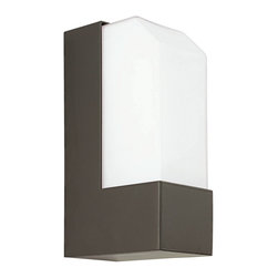 """CSL - Observe Bronze 7"""" High Fluorescent Outdoor Wall Light - This contemporary outdoor wall light offers smart styling and a sleek design. This piece starts with aluminum construction and is presented in a gorgeous bronze finish. Warm illumination is created by a frosted diffuser. This attractive energy efficient design is a great choice for adding light and style to your exterior. Bronze finish. Aluminum construction. Frosted diffuser. Rated for wet locations. ADA compliant. Includes one 13 watt fluorescent bulb. 7"""" high. 2 1/2"""" wide. Extends 4"""" from the wall.  Bronze finish.   Aluminum construction.   Frosted diffuser.   Rated for wet locations.   California Title 24 compliant.  Includes one 13 watt fluorescent bulb.   7"""" high.   2 1/2"""" wide.   Extends 4"""" from the wall."""