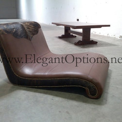 Royalton - Leather and Hair-On Hide Chaise Lounge