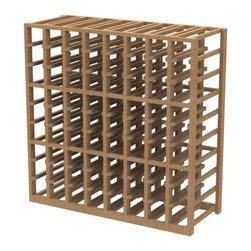 EcoWineracks 8 Column Lower Individual Bottle Rack, Natural Color, Clear Acrylic - EcoWineracks are the worlds only traditional style wine racks made from non-forested and sustainable bamboo. Bamboo is superior to wood in strength and durability, is non-warping and has consistent grain.
