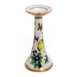 Artistica - Hand Made in Italy - Campestre: Candle Holder (Tall) - Campestre Collection: The new Botanical-Design for your kitchen area.