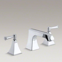 KOHLER - KOHLER Memoirs(R) Stately deck-mount bath faucet trim with non-diverter spout an - Add classic details to your bath with this Memoirs bath faucet trim. Featuring a spout and ergonomic lever handles, this faucet trim brings both comfort and sophistication to your bathroom. When paired with high-flow ceramic disc valves, this trim offers optimal performance.