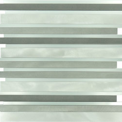 Euro Glass - Metallic Weather Orbit Stainless Steel Aluminum Glossy and Brushed Aluminum - Sheet size: .97 Sq. Ft.