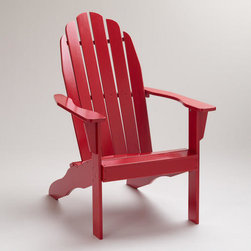 Formula One Red Classic Adirondack Chair - Adirondack chairs are perfect for watching fireworks in the backyard.