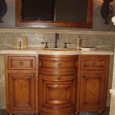 Traditional Bathroom Vanities And Sink Consoles by All Wood Treasures