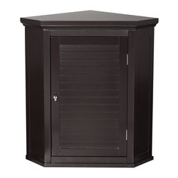 Elegant Home Fashions Slone Corner Wall Cabinet With 1