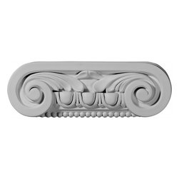 "Ekena Millwork - Southampton Capital (Fits Pilasters up to 5 3/4""W x 5/8""D) - 9 1/2""W x 3 1/8""H x 2 1/4""D Southampton Capital (Fits Pilasters up to 5 3/4""W x 5/8""D). Our appliques and onlays are the perfect accent pieces to cabinetry, furniture, fireplace mantels, ceilings, and more. Each pattern is carefully crafted after traditional and historical designs. Each polyurethane piece is easily installed, just like wood pieces, with simple glues and finish nails. Another benefit of polyurethane is it will not rot or crack, and is impervious to insect manifestations. It comes to you factory primed and ready for your paint, faux finish, gel stain, marbleizing and more."