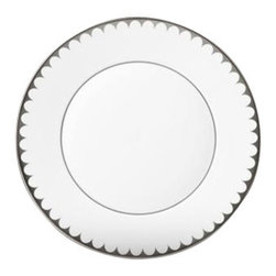 "L'Objet - L'Objet Aegean Platinum Filet Bread & Butter Plate - Inspired this traditional dinnerware with its timeless and delicate scalloped decal border. The ultimate layering accent for any of our extravagant dinnerware collections. Limoges Porcelain, Made in Portugal. 3 Layers of Hand Applied PlatinumDishwasher Safe on Delicate Setting. Not Microwave SafeMeasures: 6.5"" DiameterL'Objet is best known for using ancient design techniques to create timeless, yet decidedly modern serveware, dishes, home decor and gifts."