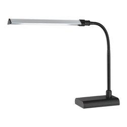 Lite Source - Lite Source LS-22048BLK Ermete Contemporary LED Desk Lamp - Energy Saving LED Panel Included.
