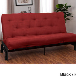 EpicFurnishings - Boston Microfiber Suede 10-inch Inner Spring Full-size Futon Set - Enhance your living space with this Boston microfiber futon. Available in a variety of colors,this futon has a sturdy wood-and-steel frame that can hold up to 750 pounds. Its inner-spring design keeps it firm and ensures your comfort as you relax.