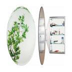 Alno Inc. - Alno Creations Oval Mirror Cabinet Stainless Steel Mc4950-Ss - Alno Creations Oval Mirror Cabinet Stainless Steel Mc4950-Ss