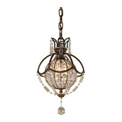 Murray Feiss - Murray Feiss P1178OBZ/BRB Bellini 1 Bulb Oxidized Bronze/British Bronze Pendant - Murray Feiss P1178OBZ/BRB Bellini 1 Bulb Oxidized Bronze/British Bronze Pendant