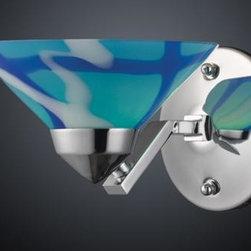 ELK Lighting - One Light Polished Chrome Carribean Glass Wall Light - One Light Polished Chrome Carribean Glass Wall Light