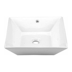 Renovators Supply - Vessel Sinks White Castle Vessel Sink No Overflow   13229 - Vessel Sinks Above Counter No Overflow: Made of Grade A vitreous China these sinks endure daily wear and tear. Our protective RENO-GLOSS finish resists common household stains and makes it an EASY CLEAN wipe-off surface. Ergonomic and elegant easy reach design reduces daily strain placed on your body. SPACE-SAVING design maximizes limited bathroom space. Easy, above counter installation let's you select from many faucet styles and countertop designs, sold separately. Measures 16 1/2 inch W x 16 1/2 projection