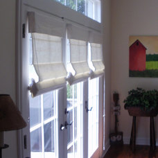 Eclectic Roman Shades by Interior VUES/ Floor 2 Ceiling Designs, LLP