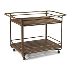 Winston - Winston Tea Cart - M8020G - Shop for Serving Carts from Hayneedle.com! Create an enchanting spot to enjoy a cuppa with the beautifully crafted Winston Tea Cart perfect for any indoor or outdoor setting. This sturdy metal cart with decorative rain glass trays features a safety railing flourishing handles on both ends and smooth rolling casters that make it easy to move from one place to another as you serve.Our product specialists have been individually trained by the Winston furniture company and know their product front to back top to bottom. The most popular fabric finish and seating configurations are shown here but if you don't see one that speaks to you a product specialist will help you create the perfect set. They can also help you design a custom seating arrangement for your outdoor living space. Call 866-579-5183 to speak with a product specialist. Hours: Monday-Friday 8 a.m.-7 p.m. Saturday 9 a.m.-5:30 p.m. EST.About Winston Furniture CompanyStarted in 1975 Winston Furniture Company manufactured simple aluminum furniture with virgin vinyl straps. As the popularity of casual furniture increased and consumers craved comfort Winston answered the call by being the first company to introduce cushioned mildew-resistant fabrics for outdoor use. In 1982 Winston was once again at the forefront by adding stylish easy-to-maintain sling furniture to its product line.Today the Winston Furniture line is comprised of cushion and sling furniture with a host of styles. A variety of powder-coated paint finishes and sling colors along with over a hundred fabric selections allow you to create just the look you need. All Winston Furniture products are proudly made in the U.S.A. in a state-of-the-art manufacturing facility in Haleyville Alabama.Winston Furniture Company Inc. has earned several design and service awards from retailers over the past 25 years. The most notable of these honors is the National Association of Casual Furniture Retailers's; (NACFR) Casual Fur