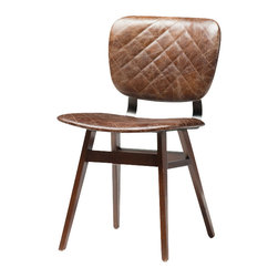 Marco Polo Imports - Dining Chair-Heavy Burlap - Old fashioned dining chair crafted from high quality top grain leather with a heavy burlap finish.