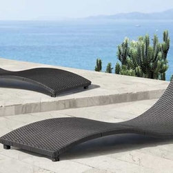 Sydney Lounge Chair By Zuo Modern - The Sydney Lounge Chair allows you to relax outdoors or poolside in style. Like a wave upon the ocean,this aluminum frame lounge chair will encourage you to lie back and relax. Very contemporary with its spare design. A synthetic weave covers the exterior and its short peg legs keep it close to the ground.