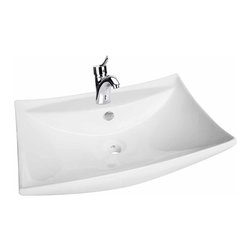 "Renovators Supply - Wall Mount Sinks White Square Wall Mount Sink 23 1/2"""" W 