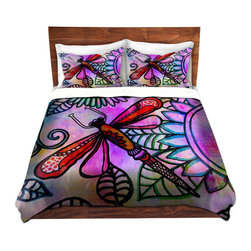 DiaNoche Designs - Duvet Cover Microfiber by Robin Mead - Inner Light - Super lightweight and extremely soft Premium Microfiber Duvet Cover in sizes Twin, Queen, King.  This duvet is designed to wash upon arrival for maximum softness.   Each duvet starts by looming the fabric and cutting to the size ordered.  The Image is printed and your Duvet Cover is meticulously sewn together with ties in each corner and a hidden zip closure.  All in the USA!!  Poly top with a Cotton Poly underside.  Dye Sublimation printing permanently adheres the ink to the material for long life and durability. Printed top, cream colored bottom, Machine Washable, Product may vary slightly from image.