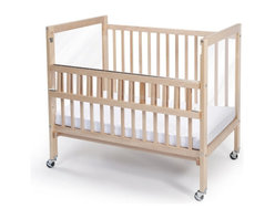 Whitney Bros Co - Whitney Brothers Clear View Folding Rail Crib Multicolor - WB9507 - Shop for Cribs from Hayneedle.com! Featuring the strongest safest folding crib rail in the institutional market the Whitney Brothers Clear View Folding Rail Crib meets or exceeds all safety standards. This compact crib is a nice alternative to the drop side cribs which are no longer made due to safety concerns. The Folding Rail Crib offers the safety of a stationary crib with the convenience of a drop side crib in that the top portion of one rail folds down making it easier to reach baby. Constructed of hardwood maple this crib also features a clear non-distorting acrylic panel on each end so caregivers can see baby from virtually any angle. The 3-inch thick mattress is included as are the four locking casters. This crib arrives ready to assemble. It's made in the USA and is GreenGuard and CPSIA Certified. This crib has a Limited Lifetime warranty. About Whitney BrothersSince 1904 Whitney Brothers been using classic cabinetmaking techniques to produce safe and sturdy educational toys. Now they're also a leader in developing versatile innovative furniture and storage systems for schools day-care centers and private homes. When they design and manufacture their educational toys and furniture Whitney Brothers uses the finest hardwoods and veneers and traditional joinery methods for extra strength. Edges and corners are always rounded smoothly and finished by hand. All of their glues paints and finishes are nontoxic and easy to clean.