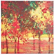 Contemporary Artwork Bright Trees Art II