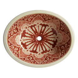 Casa Daya Tile - Made to order Talavera Hand Painted Mexican Sink, Medium - The styles are influenced by the beautiful Spanish architecture in the Guanajauto state of Mexico from the time the Spanish inhabited the area starting in the 1520's.