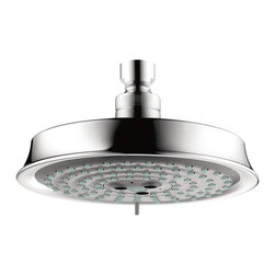 Hansgrohe - Hansgrohe-28471001 Raindance C 150 AIR Showerhead in Chrome - Hansgrohe-28471001 Raindance C 150 AIR Showerhead in ChromeAs one of the leading international manufacturers of plumbing products, Hansgrohe represents innovation, design, quality and showering pleasure at the highest level. From a simple handshower to a luxurious, oversized showerhead–Hansgrohe has everything you could wish for in a shower. Hansgrohe shower products provide you with the ultimate in design, functionality and quality, leading to performance and styles that will please even the most discerning bather. Rediscover water– as a source of relaxation in a soothing, warm rain shower or with an invigorating whirl-air massage. No matter what you want, you will find countless possibilities for your showering oasis with Hansgrohe.Raindance C Showerheads. A traditional look with modern AIR technology.  It is our pleasure to present AIR in the C design, with its distinctively retro elements: a gentle, elegant curve and matching metallic sprayface. The Raindance C 180 AIR and larger showerheads feature a solid brass shell and a fully-chromed sprayface. Hansgrohe-28471001 Raindance C 150 AIR Showerhead in Chrome, Features:• 6-Inch spray face; 6-1/4-Inch face diameter• 3 spray patterns: Rain AIR, Balance AIR, and Whirl AIR spray modes• Features Quiclean cleaning system and AIR-injection technology• 86 no-clog spray channels• Requires arm and flange - sold separatelyHansgrohe-28471001 Specification Sheet Hansgrohe Installation Instructions Hansgrohe Limited WarrantyManufacturer: HansgroheModel Number: 28471001Manufacturer Part Number: Hansgrohe 28471001Collection: RaindanceFinish Code: Finish: ChromeUPC: 011097629759This product is also listed under the following Manufacturer Numbers and Finish Codes:Hansgrohe 28471001        HG28471001        28471001Product Category: Bathroom FaucetsProduct Type: Raindance Showerhead