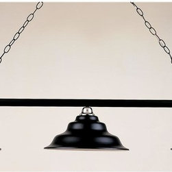 Hi-Lite MFG - 54 in. 3-Bulb w 3 ft. Chain and 7 ft. Wire Billiard Light (Rust/Polished Copper) - Finish: Rust/Polished CopperIncludes 3 ft. chain and 7 ft. wire. 3 100W/120V light bulb (not included). UL listed. Made from steel. Pictured in Black Leather & Chrome. 54 in. L x 14 in. W  x 12 in. H