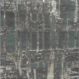 """Dynamic Rugs - Dynamic Rugs Mysterio 1205-900 (Silver) 7'10"""" x 10'10"""" Rug - Colorations in this new collection features the interlacing of metallic tones, from pewter to lighter silver, and natural shades of browns, beiges and Ivory in transitional designs to complement today's modern, high fashion looks in home decoration. The rugs are power woven in Belgium with a dense heat set polypropylene pile. In the construction random double pointing density and drop stitch weaving techniques are used to create lovely textured finishes which are evident both visually and to the touch."""