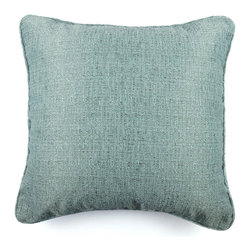 KOVI Home Decor - Primo Pillow Cover Sapphire Blue, Light Blue - The Primo Pillow Cover in Light Blue color is handcrafted in a vibrant solid light green fabric. The Primo is a softly woven fabric in 50% cotton and 41% polyester producing a modern and sleek pillow cover. While simple in design, this pillow cover can make a stunning statement in any room. This pillow cover comes with a side zipper to allow for easy removal for dry cleaning.