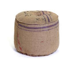 #N/A - Vintage Sack Ottoman - Vintage Sack Ottoman. Style: Modern, Width: 20, Depth: 20, Height: 16