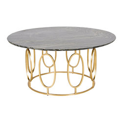 Worlds Away - Worlds Away Gold Leaf Ovals Coffee Table CALEB GB - Worlds Away Gold Leaf Ovals Coffee Table CALEB GB