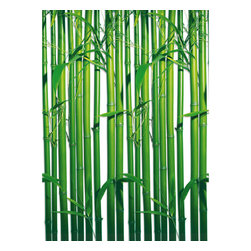 Bamboo Repeatable Wall Mural - Bring the simplicity of nature inside with this pretty bamboo wall mural.